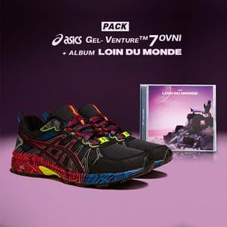 PACK ASICS OVNI + CD LOIN DU MONDE